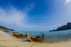 Thai boat. Boat travel to Phi phi island Royalty Free Stock Image