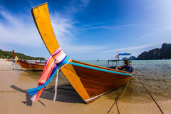 Thai boat. Boat travel to Phi phi island Royalty Free Stock Images