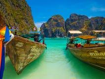 Thai longboats Stock Photo