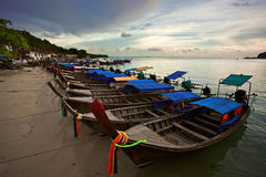 Thai boats near the beach Stock Image