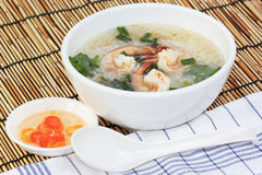 Thai boiled rice with shrimp Stock Photography