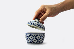 Thai bowl opening royalty free stock photo