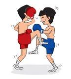 Thai Boxing. Stock Photo