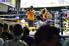 Thai boxing. Royalty Free Stock Photo