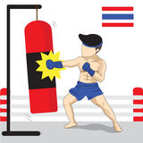 Thai boxing cartoon Royalty Free Stock Photography