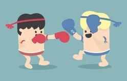 Thai boxing cartoon Royalty Free Stock Photography