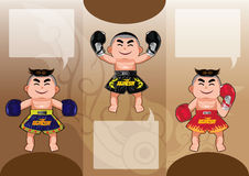 Thai Boxing design over brown background, vector illustration Stock Images