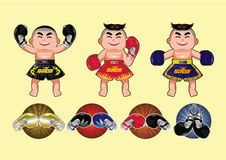 Thai Boxing design,vector illustration Royalty Free Stock Images