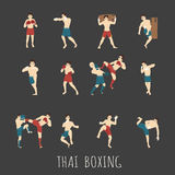 Thai boxing. Eps10  format Stock Images