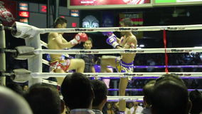 Thai boxing. stock footage