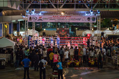 Thai boxing fight night Stock Images