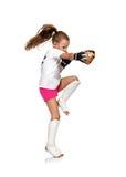 Thai boxing girl Stock Image