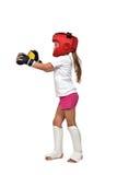 Thai boxing girl Stock Photos