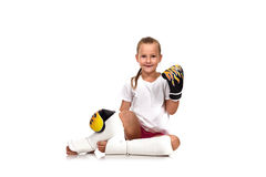 Thai boxing girl Stock Photography