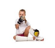 Thai boxing girl Royalty Free Stock Image