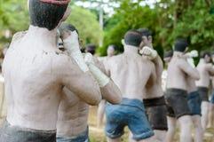 Thai boxing man pottery Royalty Free Stock Photos