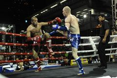 Thai Boxing Match Royalty Free Stock Photos