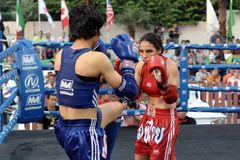 Thai Boxing Match Stock Images