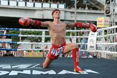 Thai Boxing Match Stock Photo