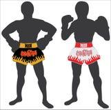 Thai boxing , Muay Thai. The common Thai boxing shorts , Amazing Thailand , Muay Thai Royalty Free Stock Photos
