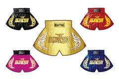 Thai boxing shorts set Royalty Free Stock Image