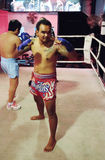Thai boxing show to tourists in night bar Stock Photography