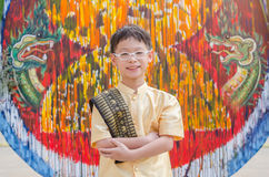 Thai Boy In Traditional Dress Stock Photo
