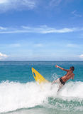 Thai Boy morning surfing Stock Images