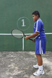 Thai boy tennis player Royalty Free Stock Image