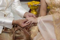 thai bröllop Arkivfoto