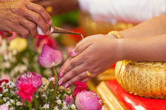 thai bröllop Fotografering för Bildbyråer