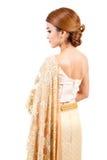 thai bröllop brud i thai bröllopdräkt Arkivfoto
