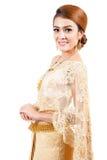 thai bröllop brud i thai bröllopdräkt Arkivbild