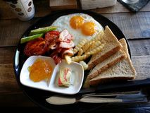 Thai breakfast of Champions. Tuerist breakfast koh lanta thailand Royalty Free Stock Photos