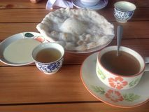 Thai breakfast. At western border of Thailand Stock Photography