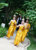thai bröllop Royaltyfri Bild