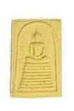 Thai Buddha Amulet. On the white  background Royalty Free Stock Photography