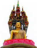 Thai buddha religion. Thai Buddhism buddha religion interior temple Royalty Free Stock Photo