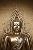 Thai Buddha in Sepia Royalty Free Stock Photos