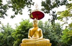 thai buddha skogstaty Arkivbilder