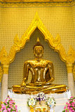 Thai buddha statue. Buddha statue in thai temple church stock photo