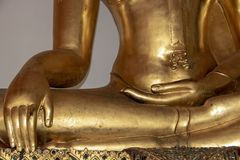 hands of buddha in the lotus position stock photo  image