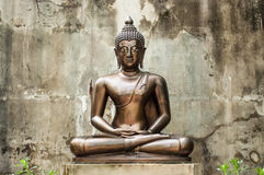 Thai Buddha statue at temple, Thailand. Royalty Free Stock Images