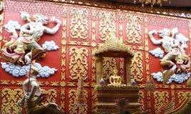 Thai Buddha statue. Buddha statue Wat Bangpleeyai nai. Bangplee Samutprakan. Thailand Royalty Free Stock Photos