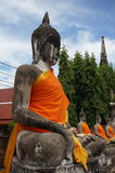 thai buddha statytempel Arkivbilder
