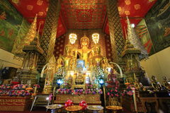 Thai buddha tample in Lumpoon Royalty Free Stock Image