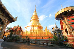 Thai buddha tample in Lumpoon Royalty Free Stock Photography