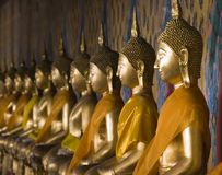 Thai Buddhas Royalty Free Stock Photo
