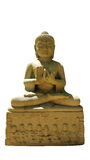 Thai buddhism buddha bless statue with clipping paths isolated o Stock Photography