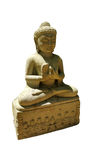 Thai buddhism buddha bless statue with clipping paths isolated o Royalty Free Stock Photo